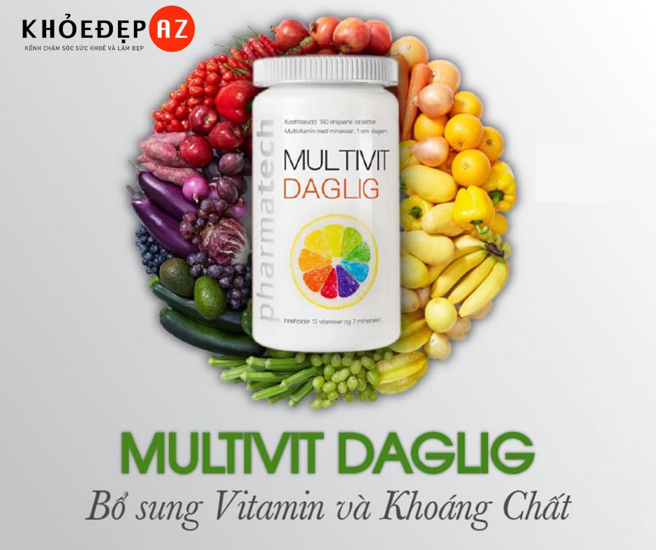 Multivit Daglig: Viên uống bổ sung Vitamin và Khoáng chất có tốt không?