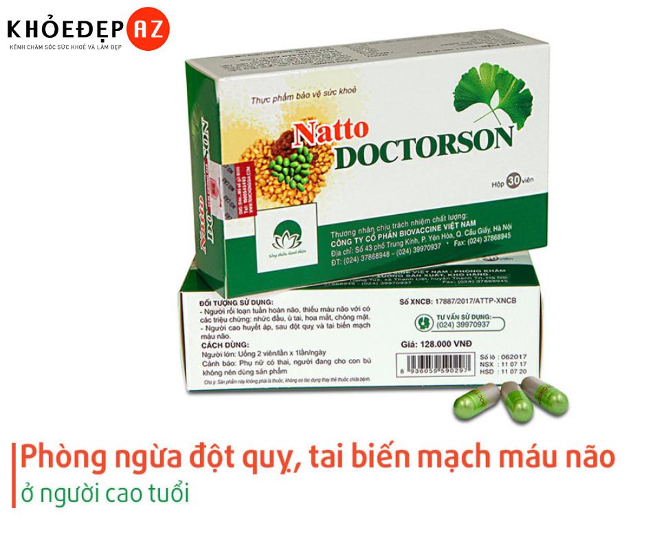 Đánh Giá Natto Doctorson – Phòng Ngừa Đột Quỵ và Tai Biến